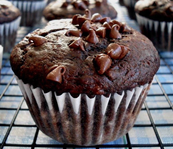 Chocolate Filled Banana Muffin