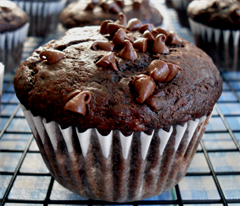 Chocolate Filled Banana Muffin